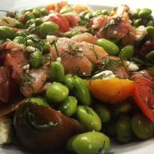 Smoked Salmon and Edamame Salad
